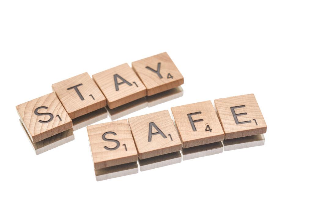 stay safe scrabble blocks